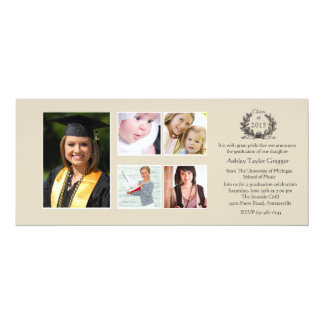 Invitación de la graduación de la Multi-foto del