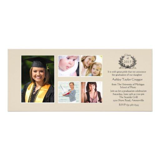 Invitación de la graduación de la Multi-foto del g