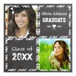 Invitación de la graduación de la pizarra su foto