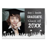 Invitación de la graduación de la pizarra su foto tarjetas