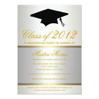 Invitación de la graduación de la plata y del oro