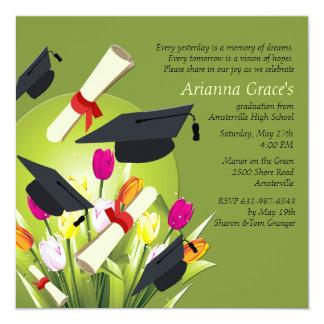 Invitación de la graduación de la primavera