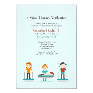 Invitación de la graduación de la terapia física