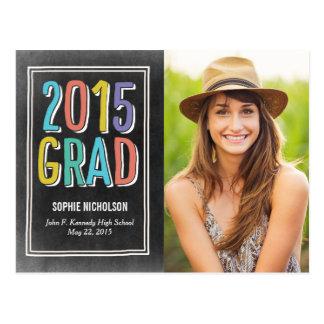 Invitación de la graduación de las buenas noticias postal