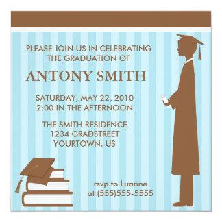 Invitación de la graduación de las rayas