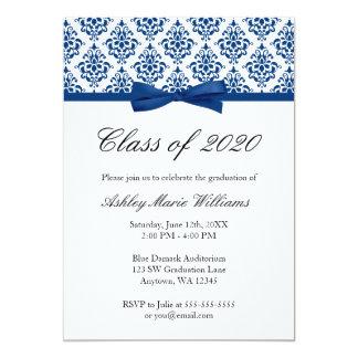 Invitación de la graduación del arco del damasco