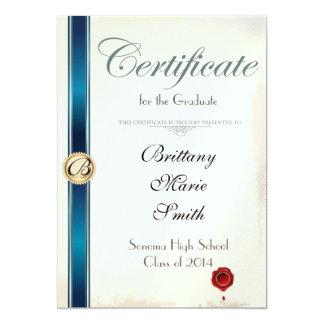 Invitación de la graduación del certificado del