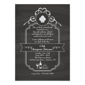 Invitación de la graduación del cocinero de la