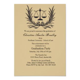 Invitación de la graduación del colegio de invitación 12,7 x 17,8 cm