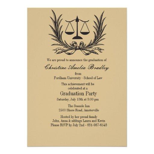 Invitación de la graduación del colegio de abogado