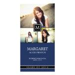 Invitación de la graduación del collage del monogr tarjetas personales