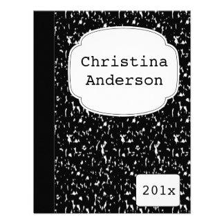 Invitación de la graduación del cuaderno de la com