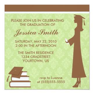 Invitación de la graduación del damasco