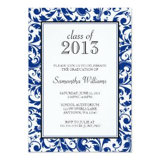 Invitación de la graduación del damasco del