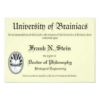 Invitación de la graduación del diploma de