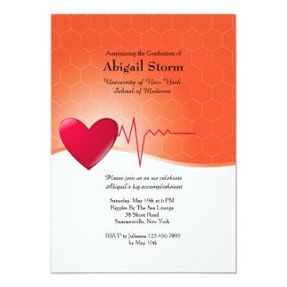 Invitación de la graduación del electrocardiograma