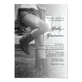 Invitación de la graduación del fiesta del granero