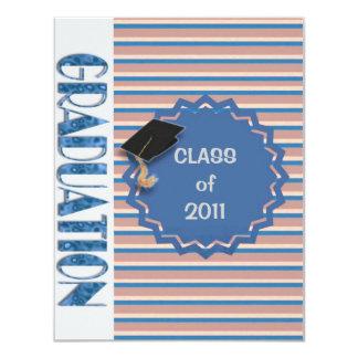 Invitación de la graduación del libro de las rayas