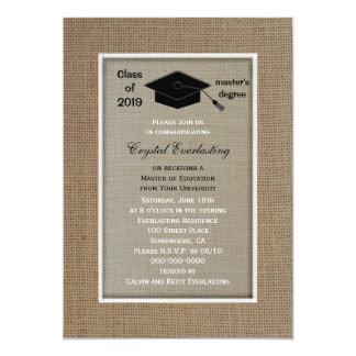 Invitación de la graduación del masters