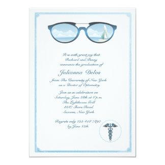 Invitación de la graduación del optometrista