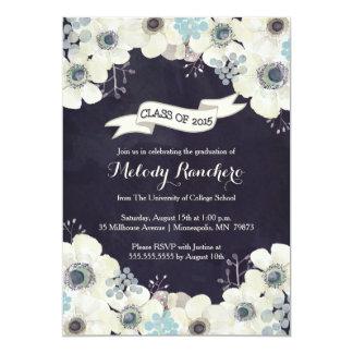 Invitación de la graduación - flor de la anémona