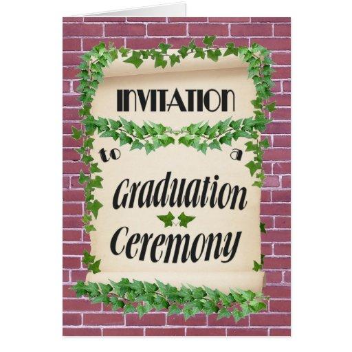 Invitación de la graduación tarjeta de felicitación