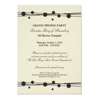 Invitación de la gran inauguración de