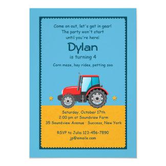 Invitación de la granja del tractor