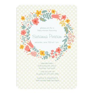 Invitación de la guirnalda de la primavera