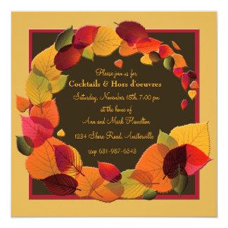 Invitación de la guirnalda del otoño