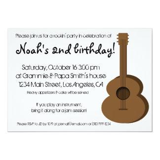 Invitación de la guitarra invitación 12,7 x 17,8 cm