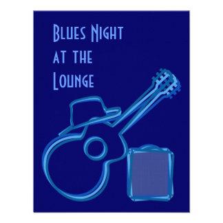 Invitación de la guitarra de los azules