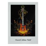 Invitación de la guitarra de Mitzvah de la barra