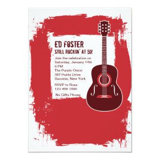 Invitación de la guitarra de Rockin Invitación 12,7 X 17,8 Cm