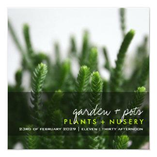 invitación de la hierba verde de la fotografía el invitación 13,3 cm x 13,3cm