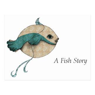 Invitación de la historia de los pescados a ir de postal