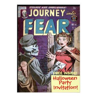 Invitación de la historieta de Halloween