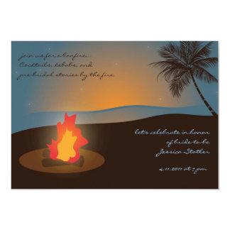 Invitación de la hoguera de la playa