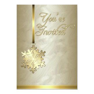 Invitación de la hoja de oro de la decoración del