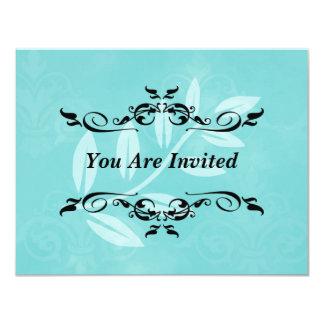 Invitación de la hoja del Victorian de la