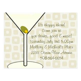 Invitación de la hora feliz postales
