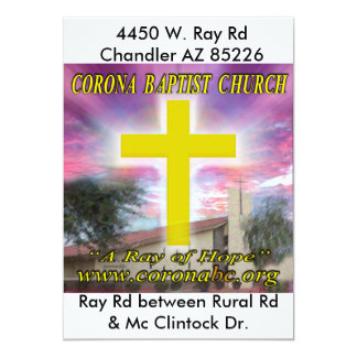 Invitación de la iglesia baptista de la corona