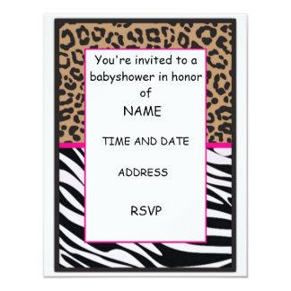 invitación de la impresión del guepardo