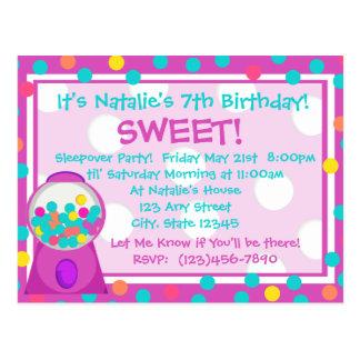 Invitación de la invitación de Bubblegum Tarjeta Postal