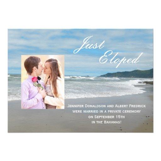 Invitación de la invitación de la fuga de la boda