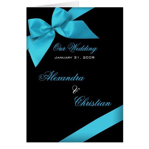 Invitación de la invitación del boda de la cinta tarjeta de felicitación
