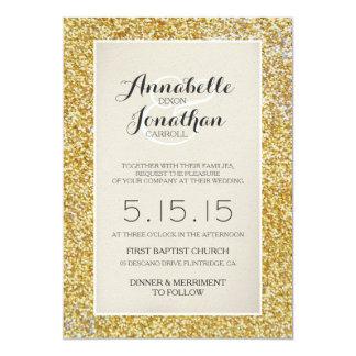 Invitación de la invitación del boda del brillo