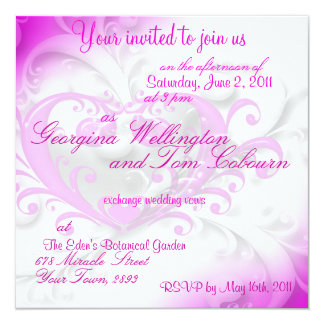 Invitación de la invitación del compromiso