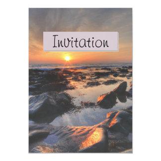 Invitación de la invitación del fiesta del paisaje invitación 12,7 x 17,8 cm
