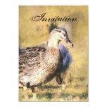 Invitación de la invitación del fiesta del pato invitación 11,4 x 15,8 cm